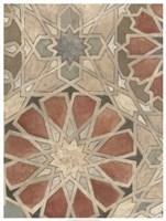 Non-Embellished Marrakesh Design I Framed Print