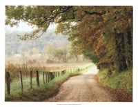 Autumn on a Country Road Fine Art Print