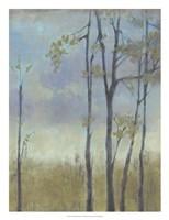 Tree-Lined Wheat Grass I Framed Print