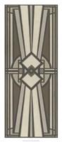 Neutral Deco Panel I Framed Print