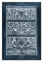 Ornamental Iron Blueprint I Framed Print