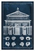 Palace Facade Blueprint I Fine Art Print