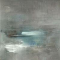Misty Pale Azura Sea Fine Art Print