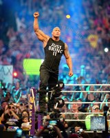 The Rock Wrestlemania 30 Action Fine Art Print