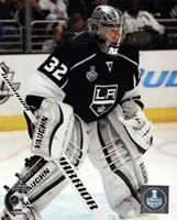 Jonathan Quick Game 2 of the 2014 Stanley Cup Finals Action Fine Art Print