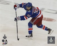 Mats Zuccarello Game 4 of the 2014 Stanley Cup Finals Action Framed Print