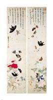 Butterflies - script Fine Art Print
