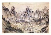 Pyohun Temple at Diamond Mountains Fine Art Print