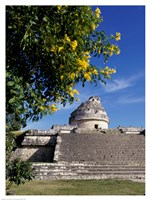 Low angle view of El Caracol Observatory Fine Art Print