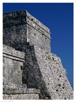 Wall of a building, El Castillo Fine Art Print