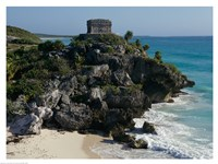 Ruins on a cliff, El Castillo Fine Art Print