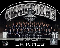 Los Angeles Kings 2014 NHL Stanley Cup Champions Team Sit Down Photo Framed Print