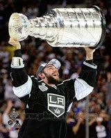 Alec Martinez with the Stanley Cup Game 5 of the 2014 Stanley Cup Finals Fine Art Print