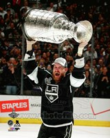 Jeff Carter with the Stanley Cup Game 5 of the 2014 Stanley Cup Finals Fine Art Print