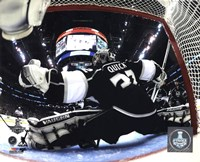 Jonathan Quick Game 5 of the 2014 Stanley Cup Finals Action Framed Print