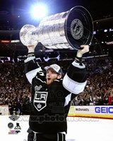 Jonathan Quick with the Stanley Cup Game 5 of the 2014 Stanley Cup Finals Fine Art Print