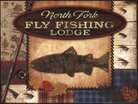 Fly Fishing Lodge Framed Print