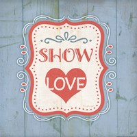 Show Love - Blue Framed Print