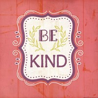 Be Kind - Pink Framed Print