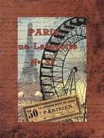 Grande Roue de Parise Fine Art Print