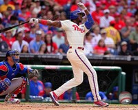 Domonic Brown 2014 batting Action Fine Art Print