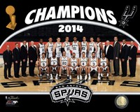 San Antonio Spurs 2014 NBA Champions Team Photo Framed Print