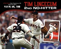 Tim Lincecum throws 2nd No-Hitter against the San Diego Padres on June 25, 2014 Fine Art Print
