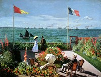 The Terrace at Sainte-Adresse, 1867 Fine Art Print