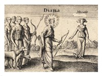 The Greek Gods Diana Fine Art Print