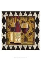 Harlequin & Wine I Fine Art Print