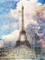 Distressed Eiffel Tower Fine Art Print