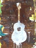 Yellow Guitar Fine Art Print