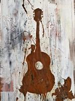 Rust Guitar Fine Art Print