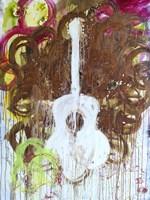 White Guitar Fine Art Print