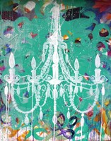 Emerald Chandelier Fine Art Print