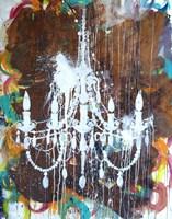 White Chandelier Fine Art Print