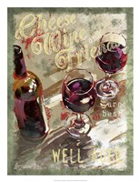 Cheese, Wine and Friends Fine Art Print