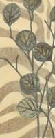 Leaves on Stripes I Framed Print