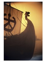 A ancient Viking Ship, Sweden Fine Art Print