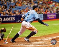 Evan Longoria 2014 Action Framed Print