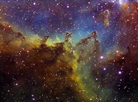 Part of the IC1805 (Heart nebula) in Cassiopeia Fine Art Print
