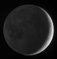 Moon with earthshine Fine Art Print