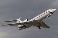 A Tupolev Tu-154M in flight over Bulgaria Fine Art Print