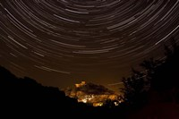 Star trails above Kavir National Park, Iran Fine Art Print