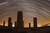 Star trails above the Private Palace of Cyrus the Great, Pasargad, Iran Fine Art Print