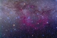 The extensive Gum Nebula area in the constellation Vela Fine Art Print