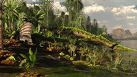 A Dimetrodon roams the Mid-Permian Period Fine Art Print