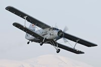 Bulgarian Air Force Antonov An-2 in flight over Bulgaria Fine Art Print
