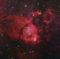 NGC 896 in the Heart Nebula in Cassiopeia Fine Art Print