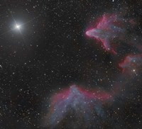 IC 59 and IC 63 in Cassiopeia Fine Art Print